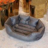 Rectángulo de PU de alta calidad resistente al agua gato cojín suave cama redonda cálida de lujo de estilo nuevo perro cama