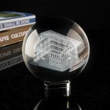 Home Deceration Nuevo Diseño 3D Laser grabado bola de cristal