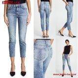 Le donne adattano a jeans sottili di Legging i jeans scarni Jl-Sk075 del denim di stirata del cotone dei jeans