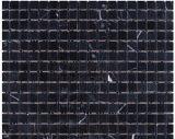 Nero黒いMarquina Squarefinger中国の黒い大理石のMossaicのタイル