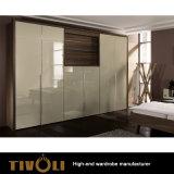 2 Houten Ontwerp 3 de Garderobe Cabinetry TV-0375 van de Deur van de Garderobe PAC van de Deur