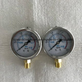 63mmのダイヤルの表面より低い底によってひだを付けられる斜面の圧力計