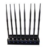 Ajustable 8 antenas de GPS de alta potencia// WiFi Jammer VHF/UHF