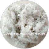 Eau de Javel Fur-Like blanc de fibres discontinues de polyester recyclé pour les chaussures