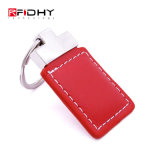 13.56MHz RFID/NFC 가죽 Keychain Fob - 1kb