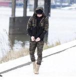 La formation militaire tactique de combat Pantalon de sport de l'Armée Carg Hommes