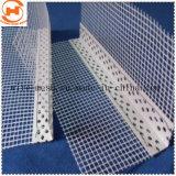Cordón de plástico de la esquina con malla de fibra de vidrio.