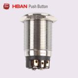19mmの超平面のリングによって照らされる金属の押しボタンスイッチ