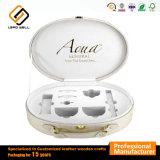 Косметической упаковки коробки Комплект для макияжа роскошь под торговой маркой подарок из натуральной кожи