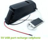 48V 14ah 800W de Navulbare Batterij van Ebike van de Dolfijn Downtube met 5V de Haven van USB
