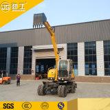 Factory Venta caliente Mini Excavadora de ruedas para la construcción