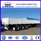 3つの車軸バルク貨物トラクターの側板か側面または塀または半サイドウォールのトレーラー