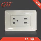 Toma de corriente eléctrica Eléctrica de la toma USB USB