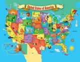 探検家は米国のマップを60人の部分の子供の困惑からかう