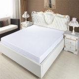 ホテルのための100%年の綿の贅沢なマットレスの保護装置のベッドによって合われるシート