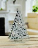De Houder van de Kaars van het glas, de Stijl van Kerstmis