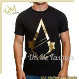 형식 디자인 상한 의류 주문 로고 검정 Mens t-셔츠