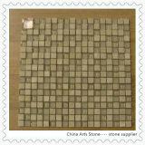 Mattonelle di mosaico di marmo beige di Shana del mosaico di pietra cinese