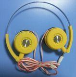 Lindo unos auriculares auriculares de color caramelo