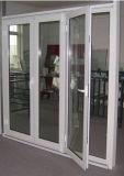 浙江、中国(ACD-004)からのヨーロッパ式のシャンペンカラー熱壊れ目のアルミニウム開き窓のガラスドア