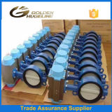 Electirc on off Ductile Iron Wafer Soft Seal Butterfly Valve