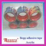 Cinta adhesiva de acrílico estupenda del embalaje del claro BOPP