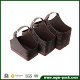 Hot Promotion Customs Leather Wicker Basket