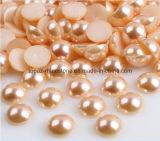 Amostra grátis 2mm-25mm Loose ABS Half Cut Pearls Flatback Plastic Half Round Pearls para decoração do telefone (FB-2mm-25mm)