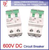 2 polos de 600V DC disyuntor (MCB) para el sistema de energía solar