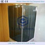 il vetro temperato 10mm della doccia con acido ha inciso il vetro