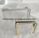Saco de fecho de PVC transparente de plástico pequena bolsa de Fecho