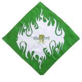 OEM drukte het Opbrengst Aangepaste Ontwerp van het Embleem de Promotie Katoenen Sjaal van de Hoofdband af