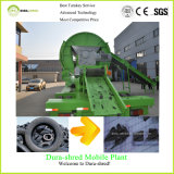Свежее зеленое двойное вырезывание автошины шредера вала и машинное оборудование рециркулировать