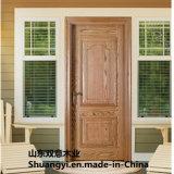 Boîtier élevé de Quanlity concevant la porte en bois solide