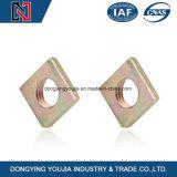 DIN DIN557562 écrous carrés en acier au carbone avec plaqué zinc
