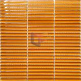Colore arancione delle mattonelle a cristallo nel mosaico di figura della striscia (PT108)