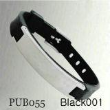 Силиконовый браслет Pub055 черного цвета