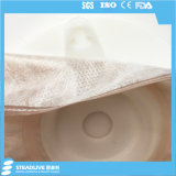 白いカラー通気性のNon-Woven凸のColostomy袋、最大切口: 38mm