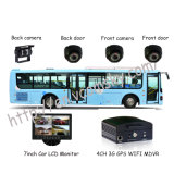 DVR 4CH Vcomsky GPS 3G de 1 TB de almacenamiento HDD móvil autobús de coches