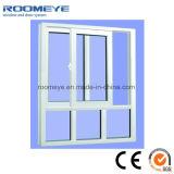 Fenêtres en châssis en PVC couleur blanche avec double verre trempé Low-E