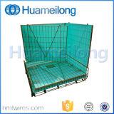 Plegable de apilamiento de almacenamiento de preformas de PET de la jaula de malla metálica