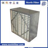 Filtre à air rigide de medias de type couvrant de cadre de fibres de verre