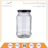 Vasi di vetro di memoria libera con il coperchio del metallo per il sottaceto/vasi di vetro