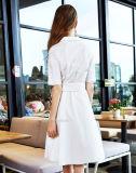 Изготовление OEM Китая платья офиса способа белое
