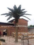 4.5meters屋内人工的な銀製のナツメヤシの木