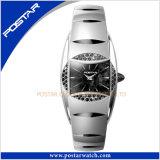 高品質の水晶動きを持つ優雅なタングステン鋼鉄レディース・ウォッチ