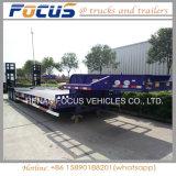 3台の車軸50tons中国の低いベッドのトラックのトレーラー