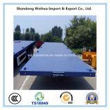 3 acoplado de la base plana del transporte de contenedores de los árboles 40FT semi para la venta