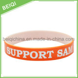 Doppelschicht-Silikon-Armband-Silikon-Handgelenk-Band billig kundenspezifisch anfertigen