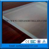 Largement en utilisant le verre trempé clair/gravure sur verre dépoli teinté d'acide